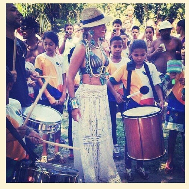 Бейонсе во время тура по Бразилии