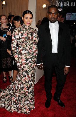 Ким Кардашьян и Канье Уэст. Оба в Givenchy