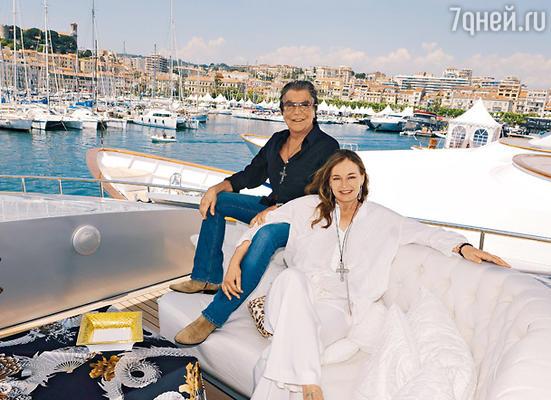 Роберто Кавалли с женой Евой Дюрингер