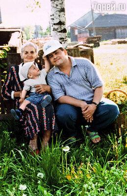 Коля с моей бабушкой Никитичной и маленьким Колькой