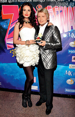 С Оксаной Федоровой на церемонии «ZD Awards» в «Лужниках». 2010 г.