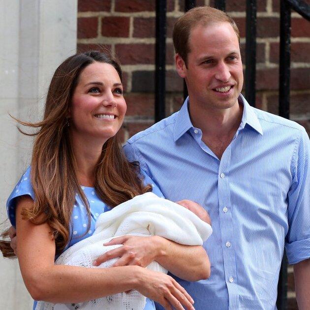 Кейт Миддлтон (Kate Middleton) и Принц Уильям (Prince William) с сыном