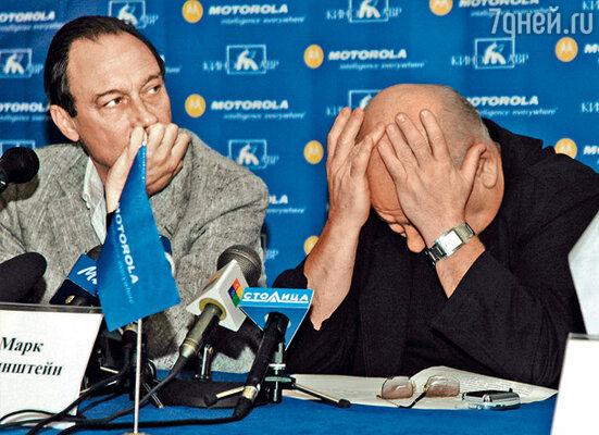 Я и президент фестиваля Олег Янковский  на пресс-конференции