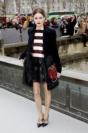 Оливия Палермо в наряде от Christian Dior на неделе моды в Париже в 2013 году
