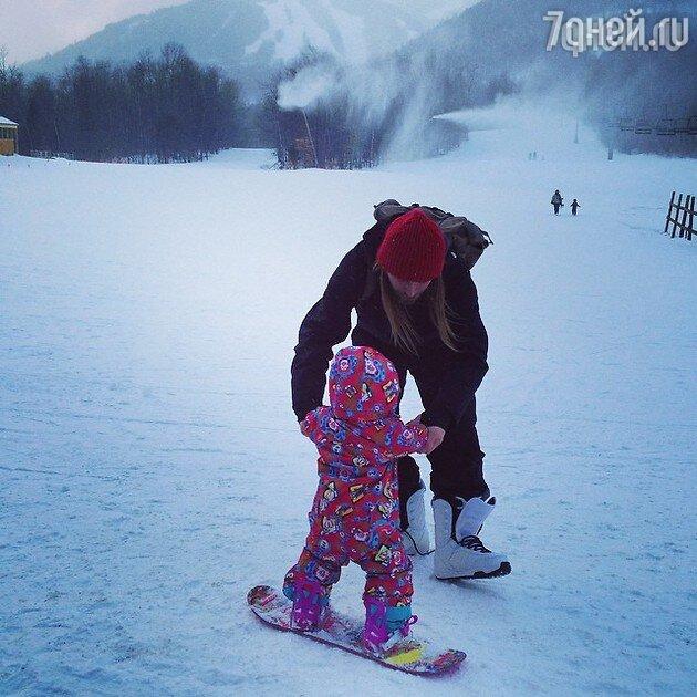 Алексей Тишкин с дочкой Музой