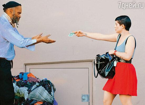 Встреча с Келли не оставила равнодушным даже бездомного