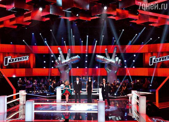 Светлана Феодулова, Сергей Волчков, Полина Конкина и ведущий шоу Дмитрий Нагиев