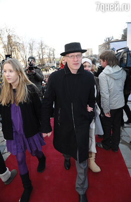Алексей Серебряков с дочерью Дашей