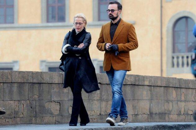 Джиллиан Андерсон и Евгений Лебедев во Флоренции 2013