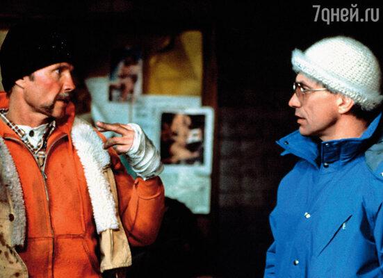 Джон Войт и Андрон Кончаловский на съемочной площадке фильма «Поезд-беглец», 1985 г.