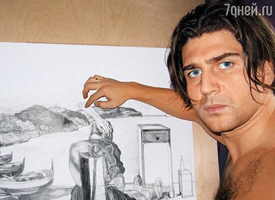 Мой рисунок — своеобразный отчет перед Сальвадором Дали. Я как бы прикоснулся к творчеству Мастера и попросил его благословения на самостоятельную дорогу в искусстве.