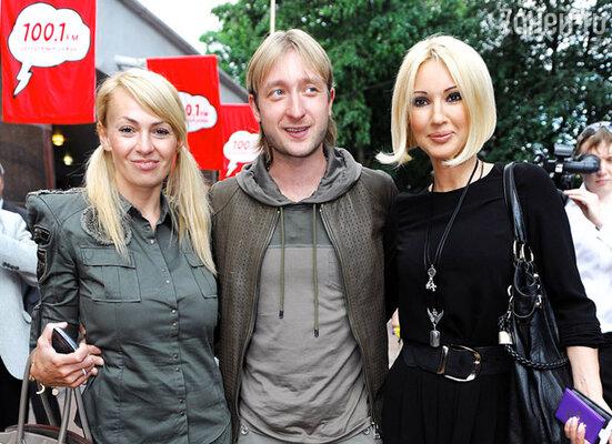 Яна Рудковская, Евгений Плющенко и Лера Кудрявцева