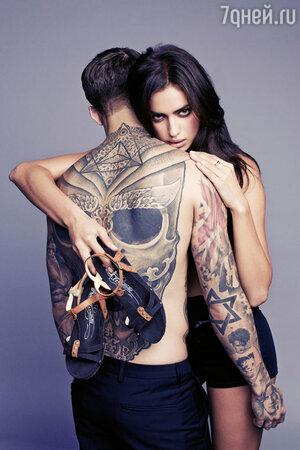 Ирина Шейк и Стивен Джеймс  в рекламной кампании  бренда XTI