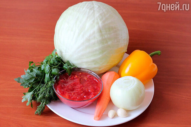 Ингредиенты для голубцов с овощами