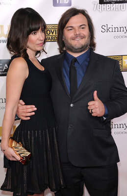 Джек Блэк  с женой