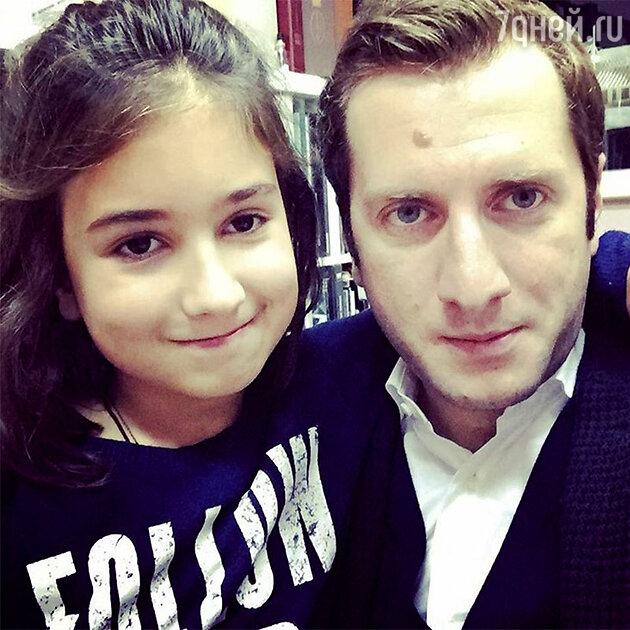 Резо Гигинеишвили с дочкой Машей