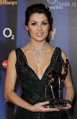 Анна Нетребко на вручении премии «Бемби» 2006 год