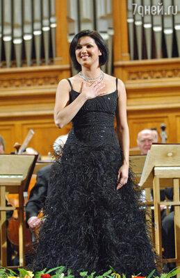 Анна Нетребко на сцене Московской консерватории