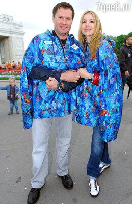 Алексей Немов с супругой