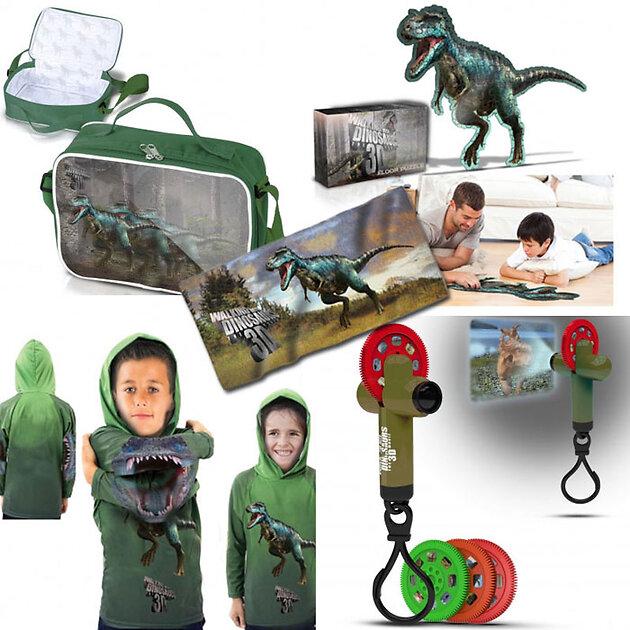 Угадайте изображенных на картинках динозавров и получите памятные призы с символикой фильма