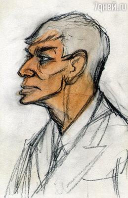 Этот портрет Пастернака он нарисовал в 1943 г.