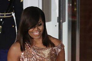 Образ дня: Мишель Обама в Atelier Versace