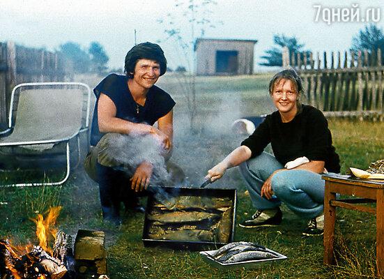 Мама с мужем  Андреем Тришиным