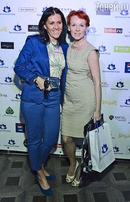 Жанна Эппле с гостем мероприятия