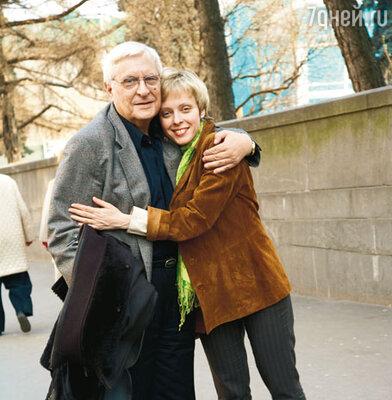 Олег Басилашвили с дочерью Ксенией