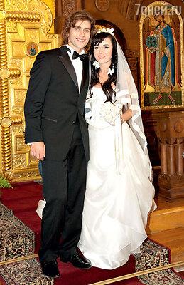 Анастасия Заворотнюк и Петр Чернышев. 12 октября 2008 г.