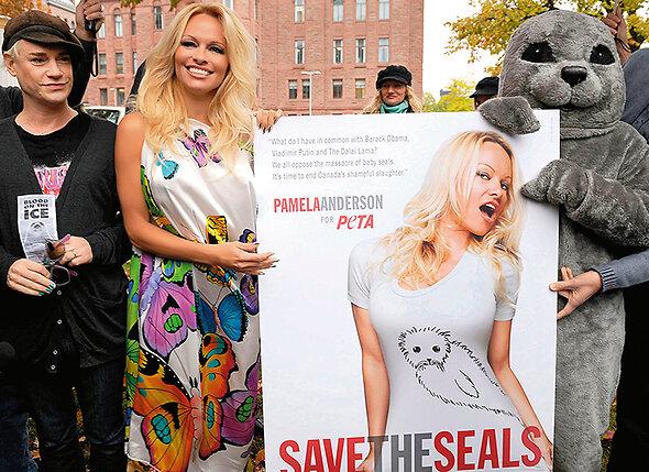 Ради рекламы своего благотворительного фонда защиты животных Памела соглашалась появляться на вторых ролях в третьесортных сериалах