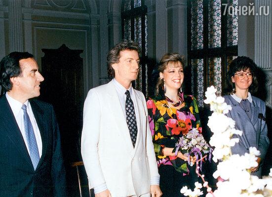 На свадебной церемонии вВенском муниципалитете. 1989 г.