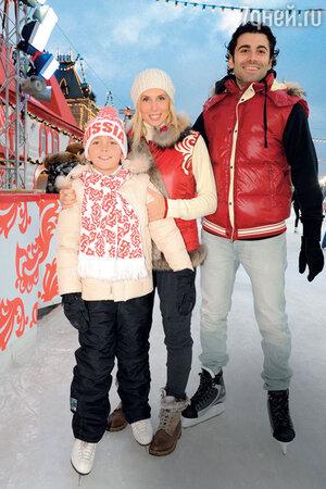 Алена Свиридова с любимым мужчиной Давидом и сыном Гришей