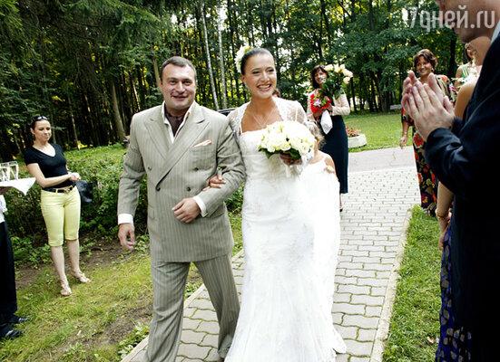 Яна Лапутина с супругом Отари Гогиберидзе — свадьба