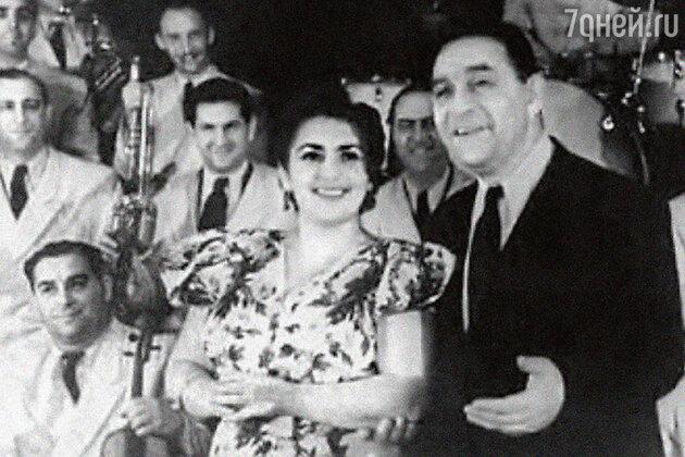 Леонид Утесов с дочерью Эдит