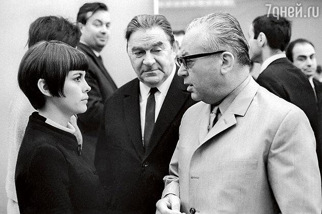 Леонид Утесов с Мирей Матье и Никитой Богословским на приеме в Кремле. 1967 г.