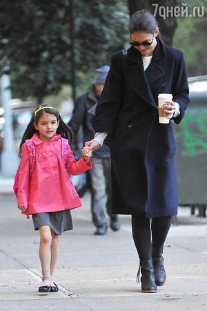 Сури Круз со своей мамой Кэти Холмс