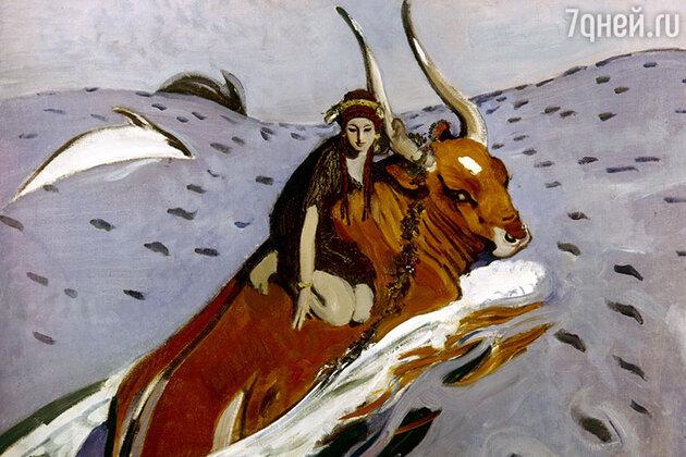 Репродукция картины Валентина Серова «Похищение Европы»