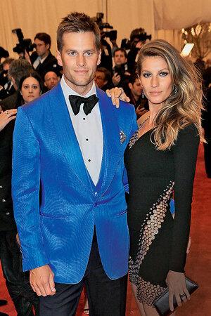 Жизель Бундхен с мужем Томом Брэди