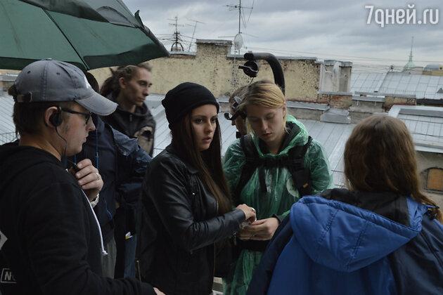 Кадр со съемок «Петербург. Селфи»