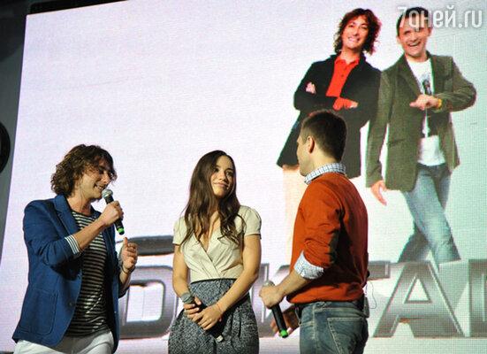 Вика Дайнеко приехала на утреннее шоу в перерыве между съемками своего нового клипа