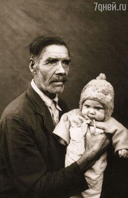 Вячеслав Фетисов с дедом Максимом
