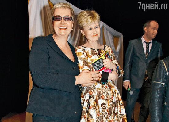 Писательницы Татьяна Устинова и Дарья Донцова
