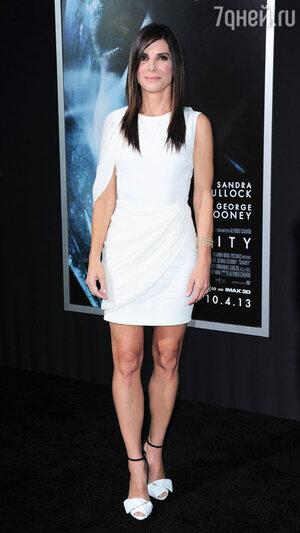 Сандра Буллок на нью-йоркской премьере фильма «Гравитация»