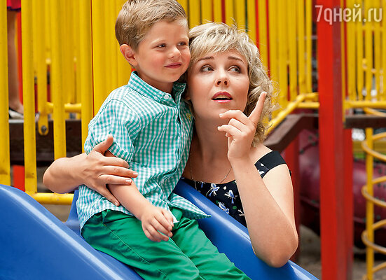 Ольга Левитина с сыном