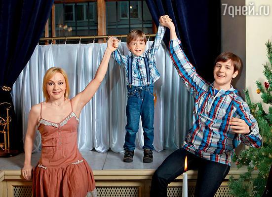 Татьяна Буланова с сыновьями Никитой и Александром