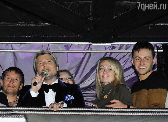 Николай Басков, Яна Рудковская и Вячеслав Манучаров
