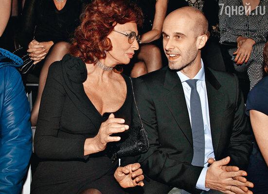 Софи Лорен с младшим сыном — режиссером Эдуардо Понти