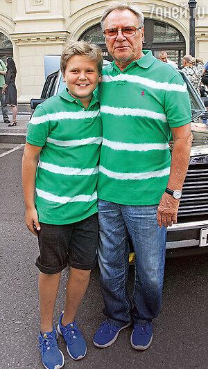 Сергей Шакуров с сыном Маратом
