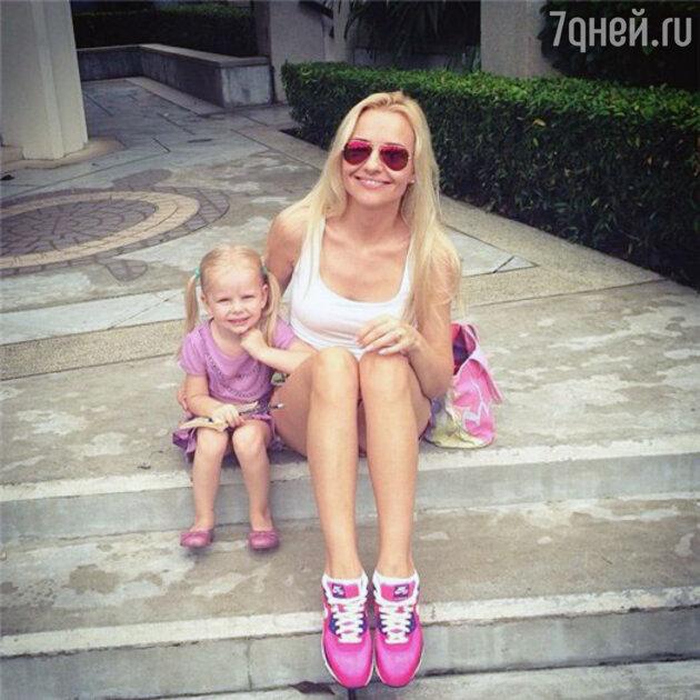 Ирина Качко c дочерью Полиной